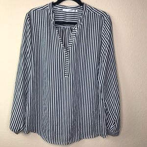 Violet + Claire Top Striped Blouse Size XL